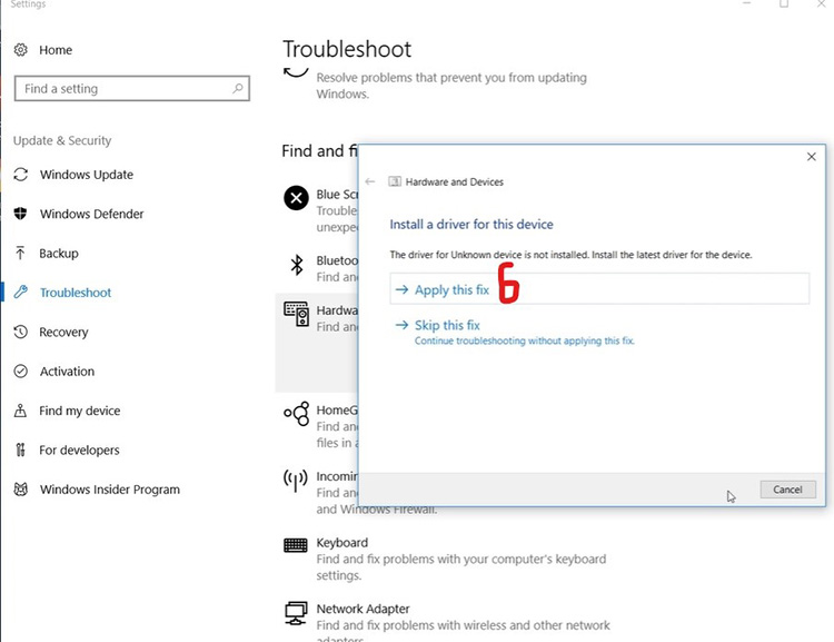 Run Windows Troubleshooter 4