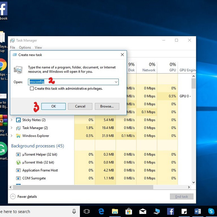 Use Task Manager 1