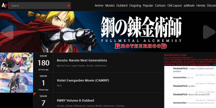 AnimeFrenzy Alternatives