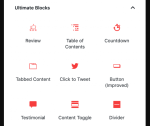 Gutenberg Blocks Plugin – Ultimate Blocks