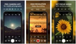 Best Professional Quality Camera App: PRO CAM X