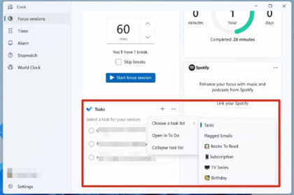 Use the new Focus Sessions in Windows 11
