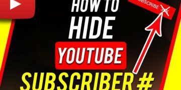 How to Hide YouTube Subscribers 2021