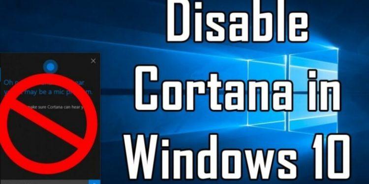 How to Turn Off Cortana 2021 in Windows 10