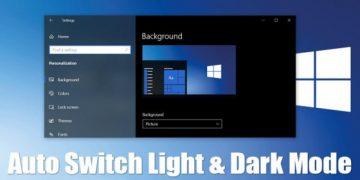 Auto Switch Light & Dark Theme in Windows 11